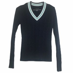 Tommy Hilfiger Navy Blue Cricket Sweater Small